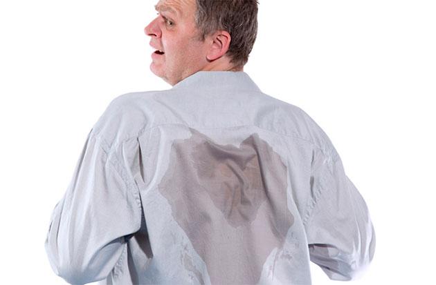 вспотевшая спина