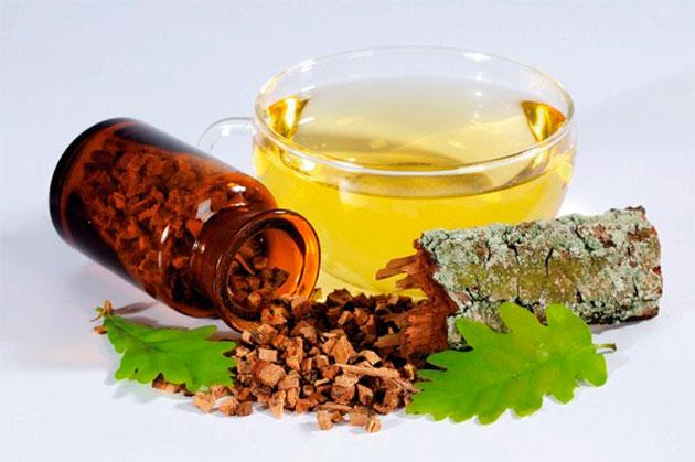 кора дуба и мёд