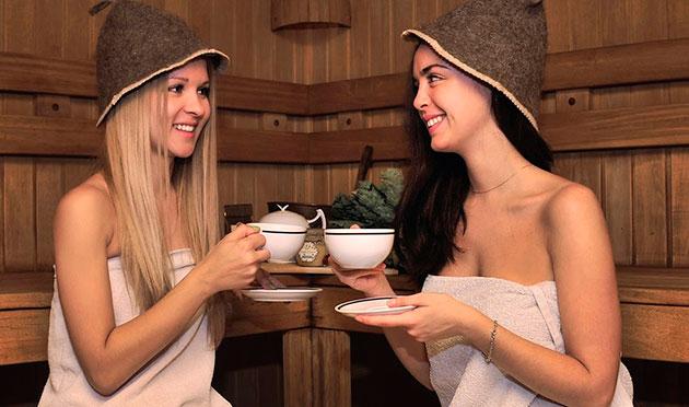 чаепитие в бане