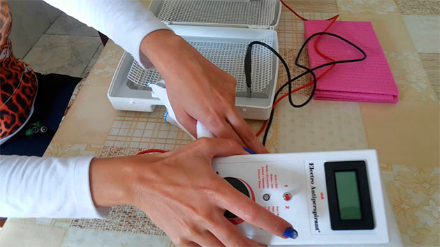 подключение электро антиперспиранта