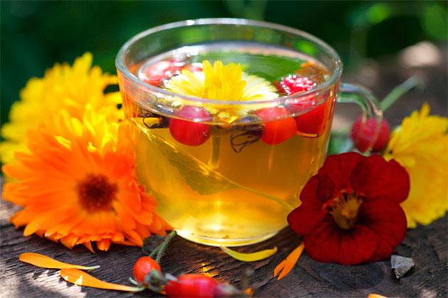 чай с шиповником и боярышником