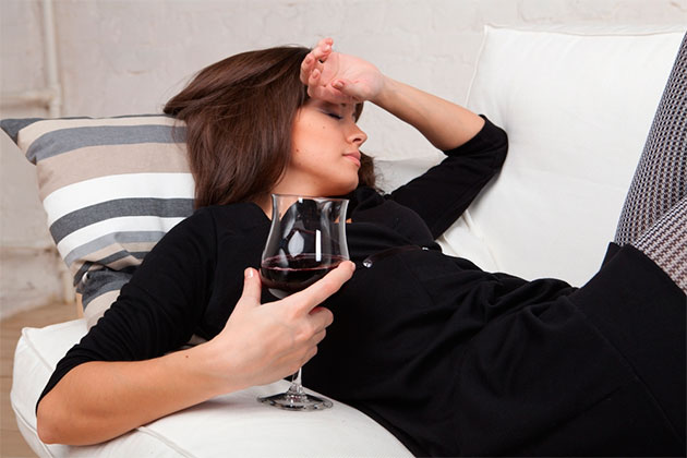 бокал вина перед сном