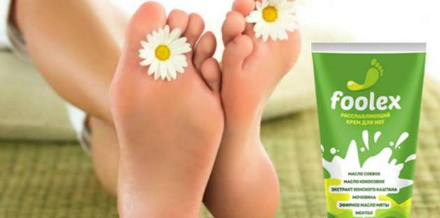 женские ноги и крем Foolex
