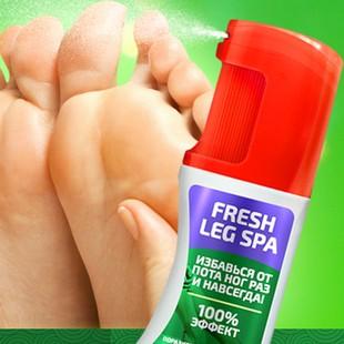 Использование спрея fresh Leg Spa