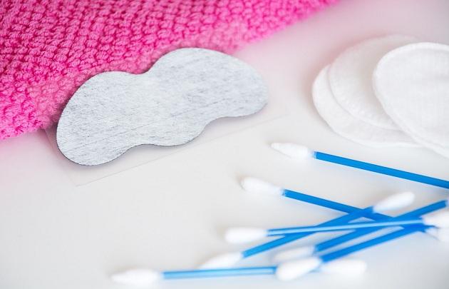 полоска для носа, ватные палочки и диски
